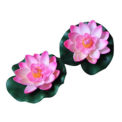 (Decorations - Pcs Kunstmatige Outdoor Zwembad Vijver Floating Lotus Aquarium Visvijver NEP Bloem Decor Water Gras Decor Tuin Decor - by GTIN - 1 PCs)