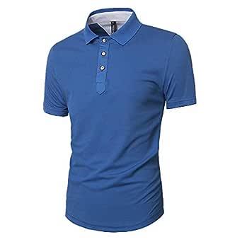 Men's Slim Short Sleeve T-Shirt Casual Fashion Round Neck Youth T-Shirt POLOT Shirt