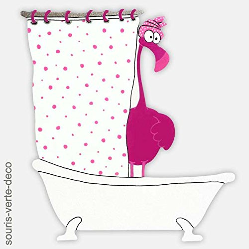 Funny pink flamingo bathroom sign, bathroom décor,restroom sign,funny gift,funny door sign, housewarming gift,flamingo addict gift,custom sign, flamingo door sign, flamingo lovers gift (Bath Vert)