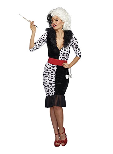 Woman Dalmatian Costume (Dreamgirl Women's Dalmatian Diva, Black/White,)