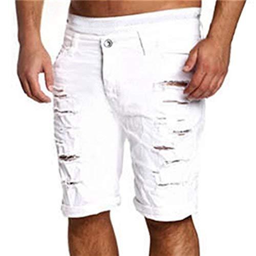 Jeans Denim Mens Slim Fit Pants Stretch Holes Skinny Cher Jeans Shorts Pants Summer Fashion Likes Pantalones De Entrenamiento Casual E Braun