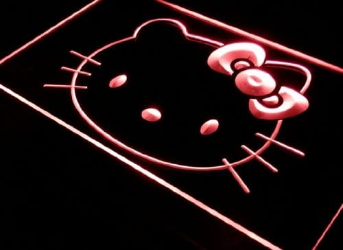 Hello Safety and trust Kitty Sign Neon unisex