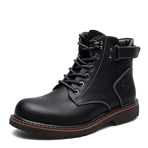 (Giles Jones Mens Motorcycle Boots Autumn Winter Leisure Breathable Combat)