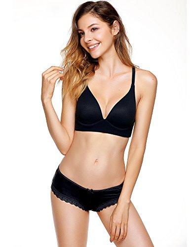 Marina Pizzo da Beige Mutande 3 Pacco Sexy Nero Dobreva Vita Donna Bikini Bassa con Slip 6xBBCZ
