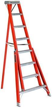 Louisville escalera ft1008 trípode de fibra de vidrio escalera, 8 pies, 300 Libra de calificación: Amazon.es: Bricolaje y herramientas
