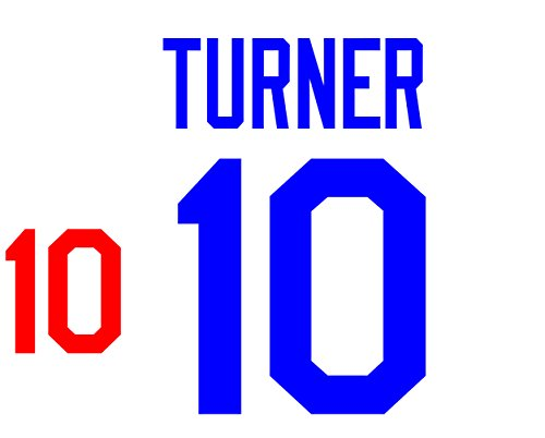 Justin Turner Los Angeles Dodgers Jersey Number Kit, Authentic Home Jersey Any Name or Number Available