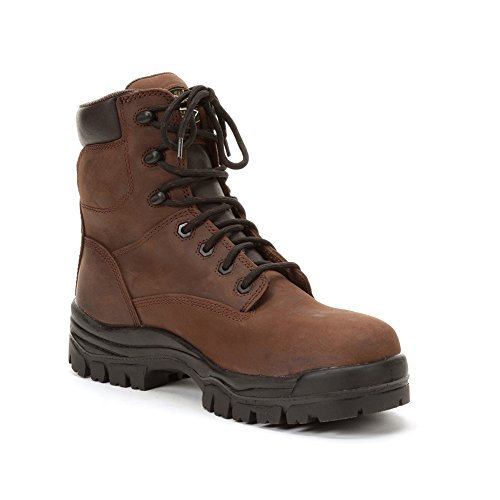 Oliver Mens 6 45 Series Lace Up Chemical Resistant Waterproof Leather, TPU Work Boots Brown