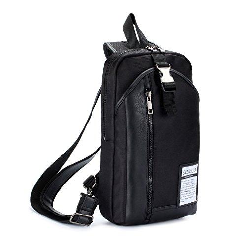 negro hombres bolsa Azul mensajero de multifunción mochila de los DOMISO bandolera Estilo Pn0qx4EfA