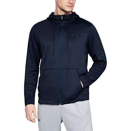 Fleece Full Zip Tall (Under Armour Men's Armour Fleece Full Zip Hoodie, Academy (408)/Black, Large)