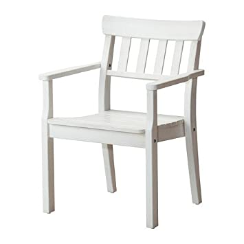 Ikea Angso Stuhl Mit Armlehnen Weiss Amazon De Kuche Haushalt