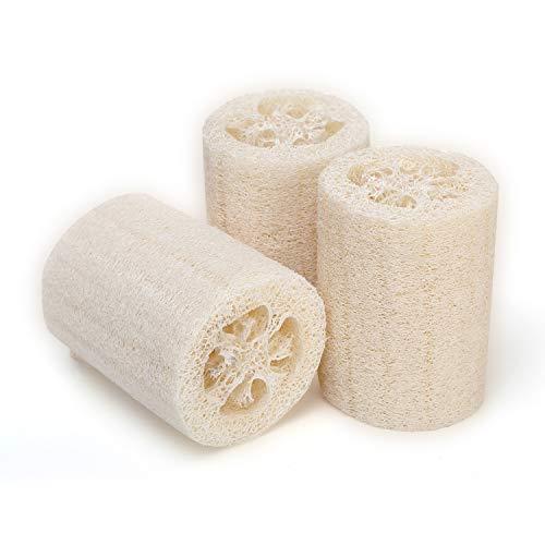 Loofah Natural Loofah Sponge, Bath Loofah Body Scrubber Exfoliating Luffa , 100% Plant Premium Quality Shower sponge of Bath Skin Cleaner Natural Sponges For Body (3 Pack/4)