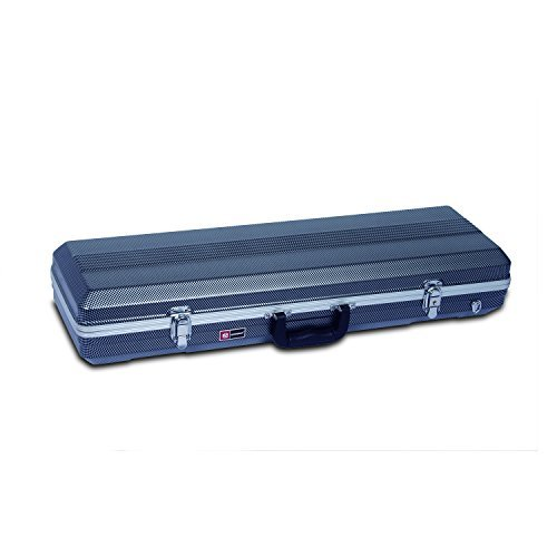 Crossrock CRA800VFBK ABS 4/4 Size Oblong Violin Case, Black