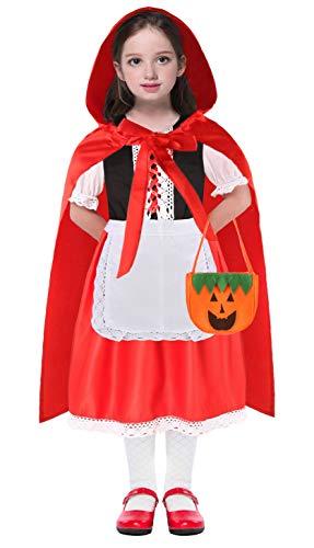 Toddler Little Red Riding Hood Halloween Costumes (Little Red Riding Hood Costume Girls Toddler Halloween Costumes Kids Toddler Cape 3T 4 4T 5 6 7 8 9 10)