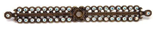 Carpe Diem Hardware 892-3AB Caché Escutcheon with Swarovski Crystals, Antique Brass