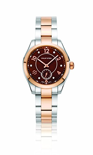 Philip Stein Women's Traveler Swiss-Quartz Watch with Two-Tone-Stainless-Steel Strap, 8 (Model: 91TRG-DCHMOP-SSTRG