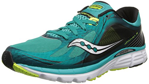 Saucony Men's Kinvara 5 Running Shoe,Teal/Citron,11 M US