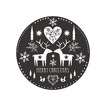 Weaeo Feliz Navidad Elk Copo De Nieve Etiqueta De La Pared Para ...