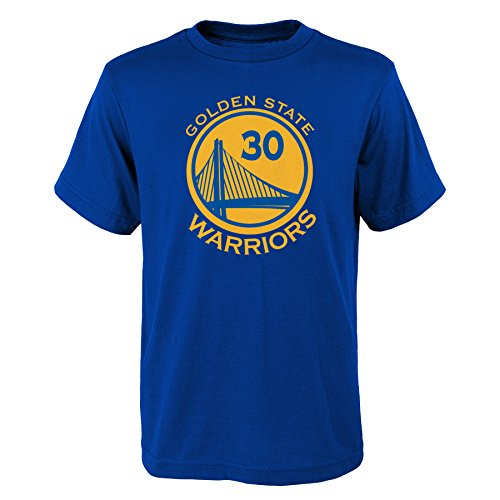 a6626f862 OuterStuff Steph Curry  30 Golden State Warriors Blue Dri Fit Name and  Number Youth Shirt