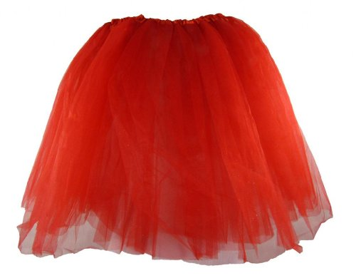 [Teen & Adult Red Dance or Ballet Tutu] (Cheap Adult Fairy Costumes)