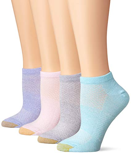 (Gold Toe Women's No Show Sport Socks with Arch Support, 6 Pairs, Blush Assorted, Shoe Size:)