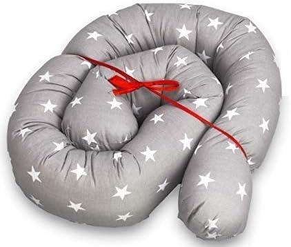 protector cuna chichonera - Cama Bebé Cojín Parachoques Torre de Cama Cojín Protectores Para Cunas y Camas de Bebé Cuna Serpiente Protector Gris blanco 150 cm