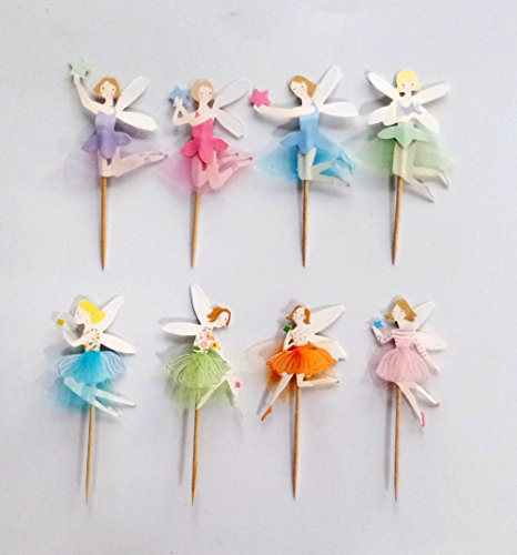 UPC 724500789585, Yunko 48 Fairy Girls Dancers Fun Cupcake Decorative Toppers Cupcake Decorating Tools for Birthday Party