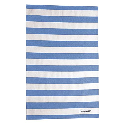 (Cornishware Blue and White Stripe Tea Towels, Set of 2)