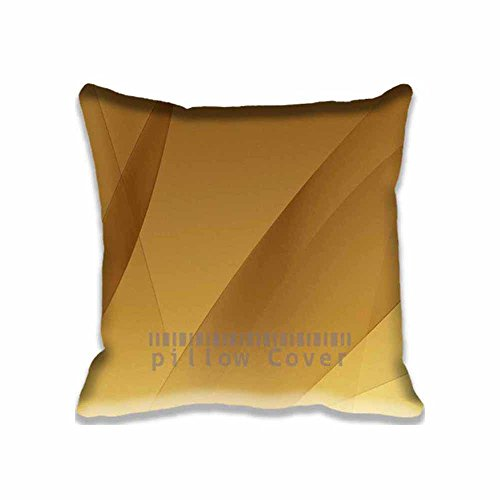 Aqua Gold Pattern Pillowcase, Cotton Polyester Filling Throw Pillow Case Cushion Cover Fashion Home Decorative Pillowcase Gift 16X16inch