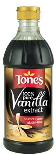 Tone's Pure Vanilla Extract - 16oz (Pack of 3)