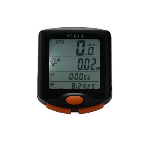 Bike Computer, Wireless Waterproof Bicycle Speedometer and Odometer, Biking Cycling Accessories with LCD Display Motion Sensor & Multi-Functions for Mountain Bike, Road Bike and Common Bicycle by Hangang