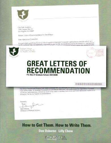 Great Letters of Recommendation (Letter Of Recommendation)