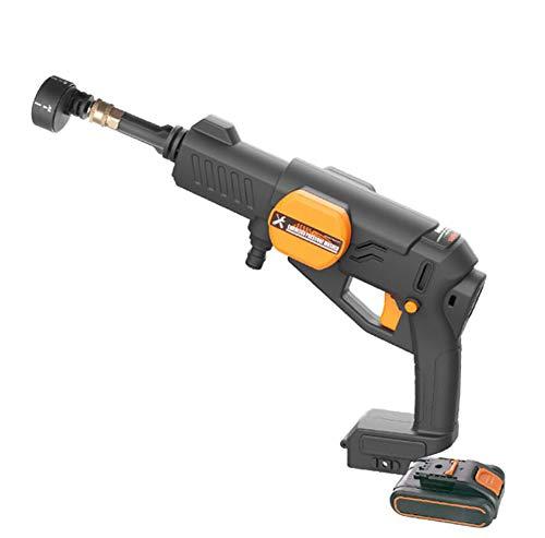- BMDHA Portable Pressure Cleaner Cordless Car Wash Spray Gun 2.0Ah Lithium Battery 40 Minutes Endurance Multifunction, Motorcycle/Garden/Floor,Black