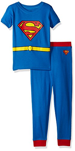Children's Flash Gordon Costume (DC Comics Boys 'Superman Superhero Clark Kent Logo' Cotton Costume Pajama Set, Multi, 8)