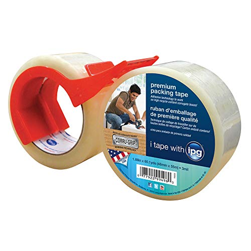 IPG Premium Packing Tape with Dispenser, 1.88