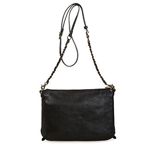 Crossbody Leather Messina Zip Lucca Elliott 3 Bag Black Genuine xnHR7qYW