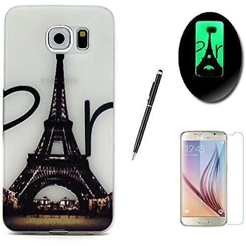 Sirekentech Samsung Galaxy S7 Edge Case Luminous Case,Fluorescent Effect Night Glow In The Dark Ultra Thin Slim FitSoft Silicone Gel TPU Cover Skin Sales