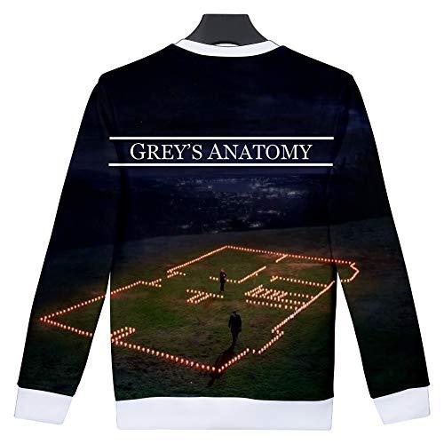 Xxs xxxl Uomo Anatomy Grey's Unisex 02 Ctooo Stampa Felpa Yqna0a