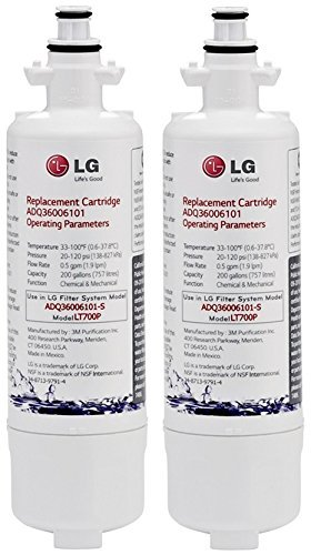 LG LT700P water filter 2 Pack white