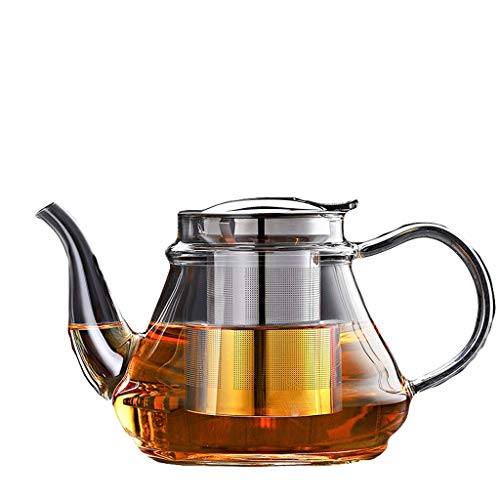 Glass Tea Set Elegant Cup Teapot High Temperature Thickening Teapot Stainless Steel Filter Leak Office Tea Ceremony Pot Household Kettle Tea Pots