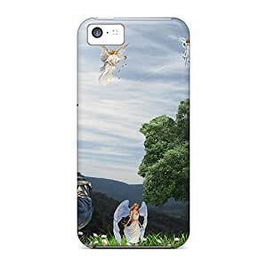 LJF phone case Defender Case For Iphone 5c, Jesus His Angels Pattern