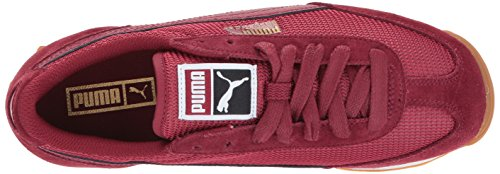 Puma Womens Facile Rider Mesh Wn Sneaker Tibétain Rouge-tibétain Rouge