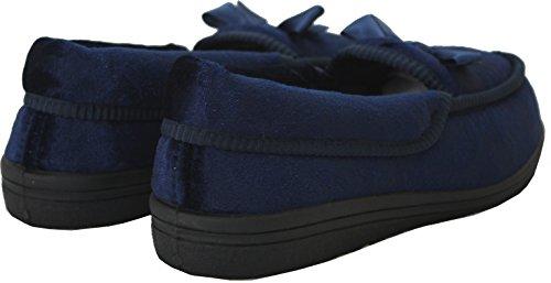 A&H Footwear  Rose,  Mädchen Damen Flache Hausschuhe Navy