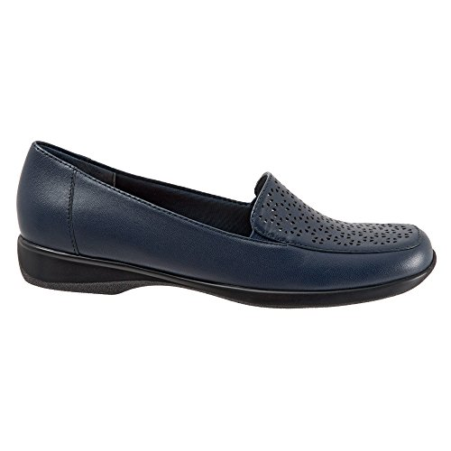 Trotters Women's Jenn Laser Flat Navy Soft Nappa Leather/silver Metallic cheap visit new KfgAIduh