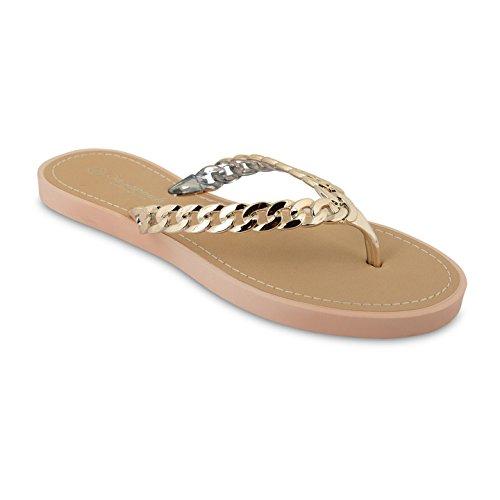 Footwear Sensation - Sandalias para mujer Beige - oro rosa
