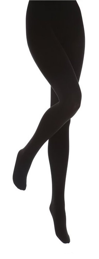 Heat Holders - Women Thick Winter Warm Colored Black Fleece Lined Thermal Tights (X-Large, Black)