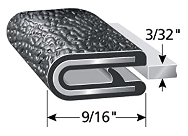 """Flexible Easy Install Boats and More 100/&rsq Fits 1//32/"""" Edge Dual Gripping Fingers Trim-Lok Edge Trim Push-On Edge Guard for Cars PVC Plastic Edge Protector for Sharp and Rough Surfaces 7//16/"""" Leg Length Machinery"""