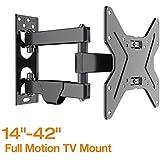 "FLEXIMOUNTS TV Wall Mount Bracket Most 17-42 inch TV Full Motion Articulating 15.4"" Extension Arm Swivel Tilt LCD LED HD Plasma"