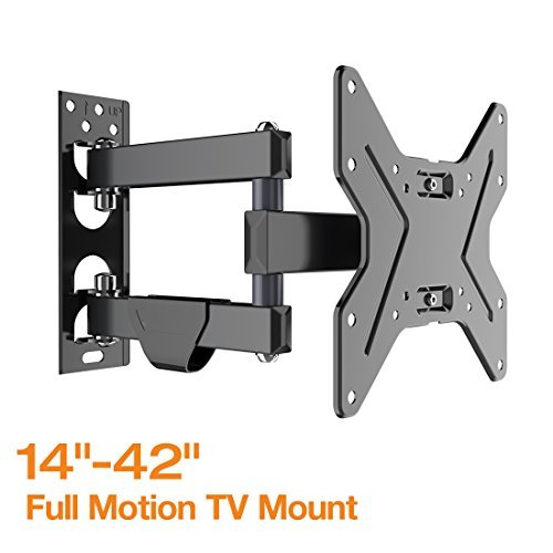 Fleximounts Full Motion Articulating TV wall mount Tilt Swivel Bracket for 17''-42'' LCD LED HD Plasma TV (Plasma Tv 17 Inch)