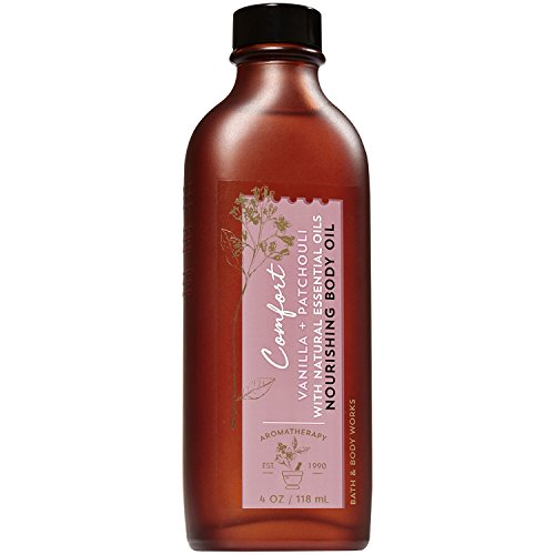 Bath and Body Works Aromatherapy Comfort Vanilla & Patchouli Nourishing Body Oil. 4 Oz (Comfort Body Oil)