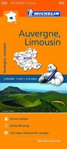 Mapa Regional Auvergne, Limousin (Carte regionali)